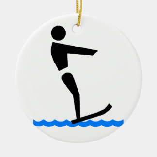 Waterskiing Ceramic Ornament
