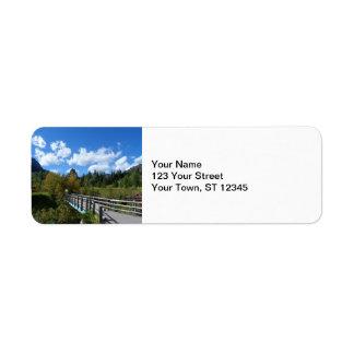 Waterton Lakes National Park Custom Return Address Labels