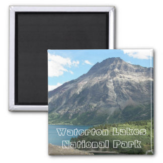 Waterton Lakes National Park Photo Square Magnet