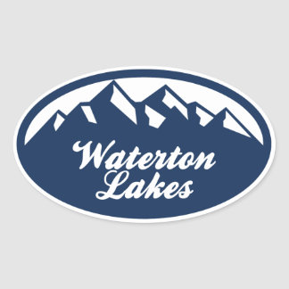 Waterton Lakes Oval Sticker
