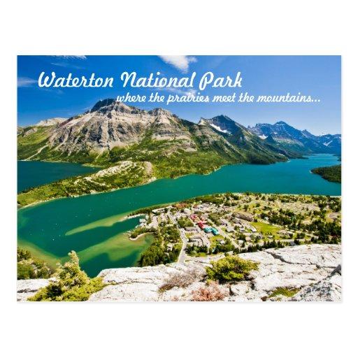 Waterton National Peace Park Postcard