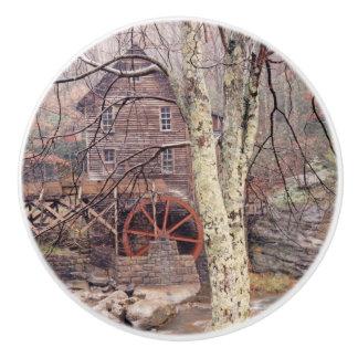 Waterwheel Ceramic Knob