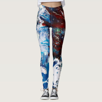 Watery flower leggings
