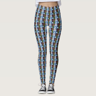 Watery flower repeat leggings