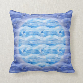 Watery Moon Pillow