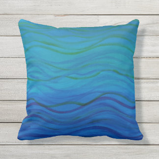 Watery Outdoor Pillow