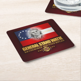 Watie (Southern Patriot) Square Paper Coaster