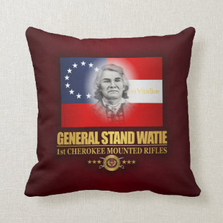 Watie (Southern Patriot) Throw Pillow