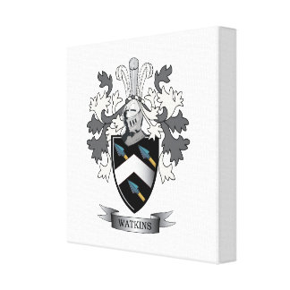 Watkins Family Crest Coat of Arms Canvas Print