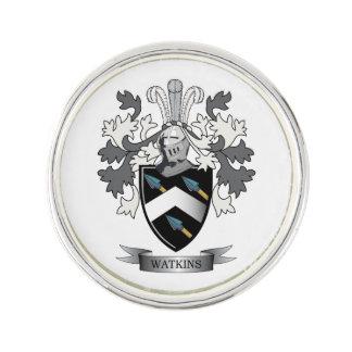Watkins Family Crest Coat of Arms Lapel Pin