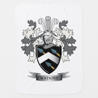 Watkins Family Crest Coat of Arms Stroller Blanket