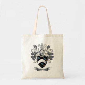 Watkins Family Crest Coat of Arms Tote Bag
