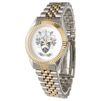 Watkins Family Crest Coat of Arms Wristwatch