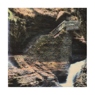 Watkins Geln Waterfalls Wood Wall Art