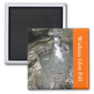 Watkins Glen Fall Square Magnet