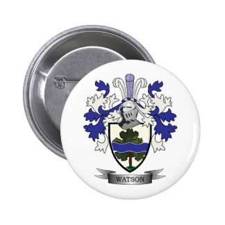 Watson Family Crest Coat of Arms 2 Inch Round Button