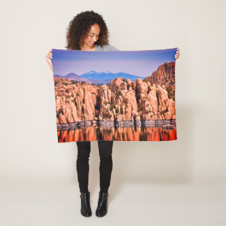 Watson Lake Boulders Fleece Blanket
