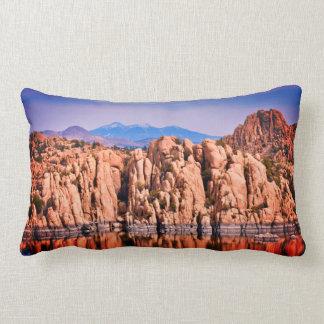 Watson Lake Boulders Lumbar Pillow