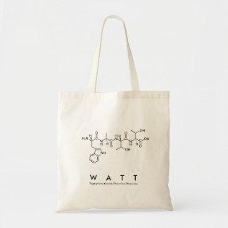 Watt peptide name bag