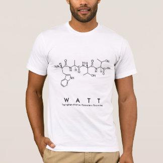 Watt peptide name shirt
