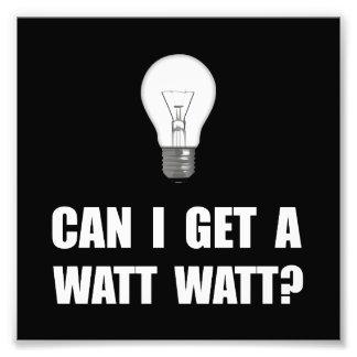 Watt Watt Light Bulb Photograph
