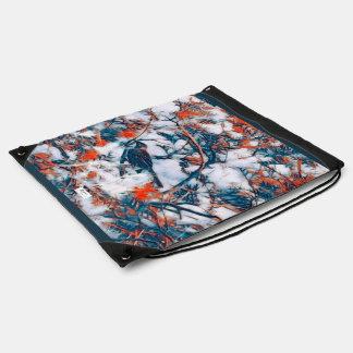 Wattle Bird Drawstring Bag