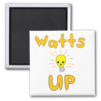 Watts Up Square Magnet