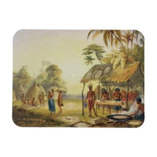 Watu Ticaba, a Wapisiana Village, from 'Views in t Flexible Magnet