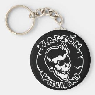 """Watzón Villians """"Damon"""" © Basic Round Button Keychain"""