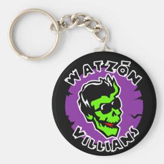 """Watzón Villians """"Damon"""" (Color) © Basic Round Button Keychain"""