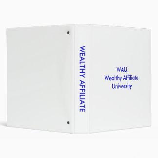 WAU  Wealthy Affiliate University Binder