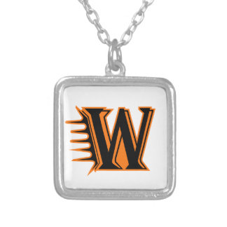 Wautoma Hornets Motion W Silver Plated Necklace