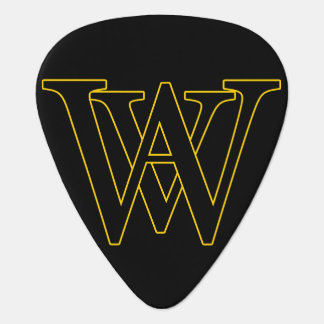 WAV Picks (Yellow Outline) Guitar Pick
