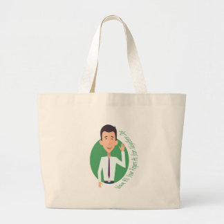 Wave All Your Fingers At Your Neighbors Day Large Tote Bag