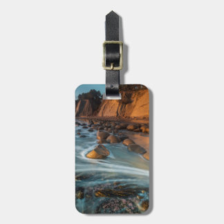 Wave along the beach, California Bag Tag