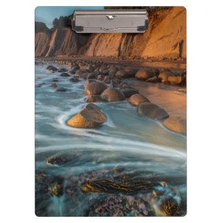 Wave along the beach, California Clipboard