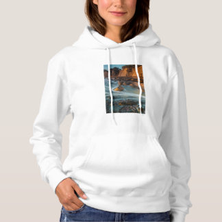 Wave along the beach, California Hoodie