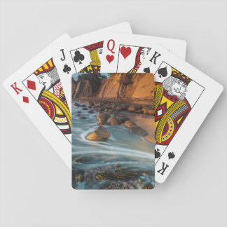 Wave along the beach, California Poker Deck