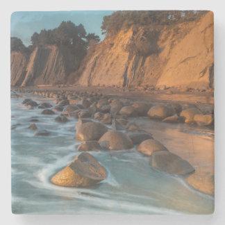 Wave along the beach, California Stone Coaster