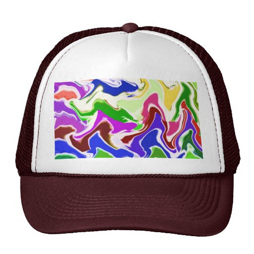 Wave Artistic Sensual TEMPLATE easy add TEXT IMAGE Mesh Hats