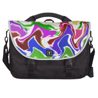 Wave Artistic Sensual TEMPLATE easy add TEXT IMAGE Commuter Bags