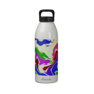 Wave Artistic Sensual TEMPLATE easy add TEXT IMAGE Drinking Bottle