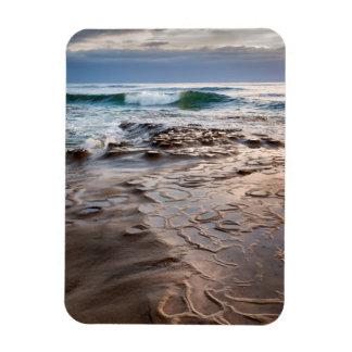 Wave breaking on beach, California Rectangular Photo Magnet