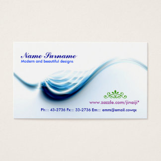 wave business card design