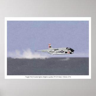 Wave Busting in a Vought F-8J Crusader 1974 Poster