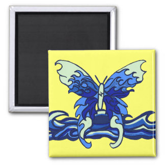 Wave butterfly magnet
