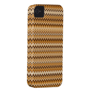 Wave Chevron Brown iPhone 4 Case