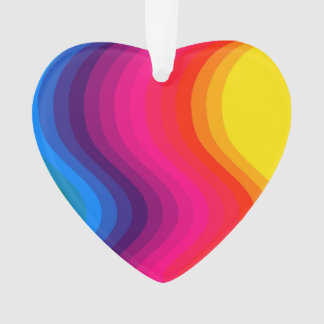Wave Color - Acrylic Heart Ornament