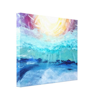 """Wave Crashes Gloss Wrapped Canvas 20"""" x 16"""", 1.5"""","""