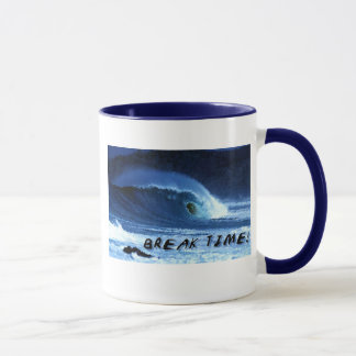 Wave crest with 'break time' reference mug